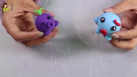 生活小手工黏土DIY,可爱的章鱼先生章鱼小姐制作教程,真卡哇伊