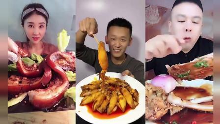 小鱼美食坊:小姐姐吃大块的红烧肉,看起来炖的不错,味道也不错