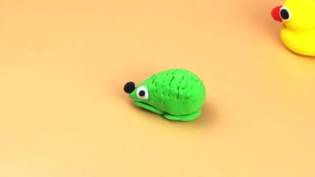 简单创意手工橡皮泥刺猬,如何用彩泥制作小动物,一起来看看吧