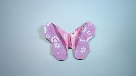 手工折纸,蝴蝶的折法,好漂亮的花蝴蝶,一学就会
