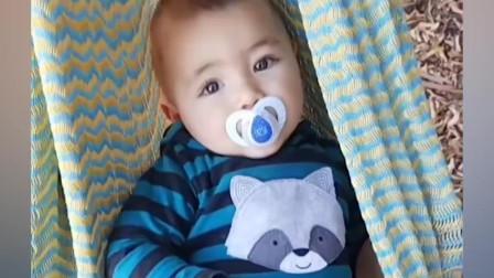 6个月婴儿见人爱打招呼学说你好  可爱的婴儿反应视频