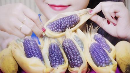 神秘的紫色玉米 吃起来有什么不一样 网友 难道是转基因食品