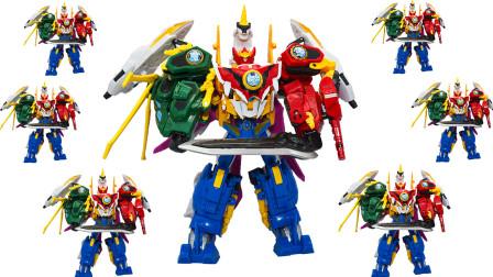 玩之乐亲子互动游戏 神兽金刚4大号独角兽金刚六合体变形合体儿童玩具