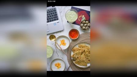 打卡~ 香煎蛤蜊饼, 芒果椰浆西米露, 鹌鹑蛋, 牛油果香蕉奶昔。