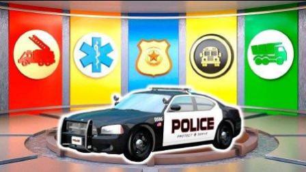 变形警车珀利和超级飞侠警车玩具