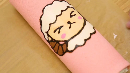 彩绘芝士蛋糕卷:美味可爱的蛋糕自己就可以做来吃噢~默默享受甜蜜的下午茶时光!