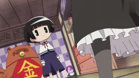 变小的银仙被猫妈妈照顾,让小银仙穿上女仆装出门!