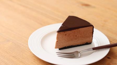 无烘烤巧克力榛子芝士蛋糕,香浓美味的半熟芝士蛋糕