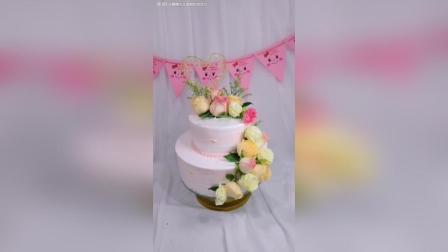 最常见的玫瑰花, 鲜花蛋糕制作!