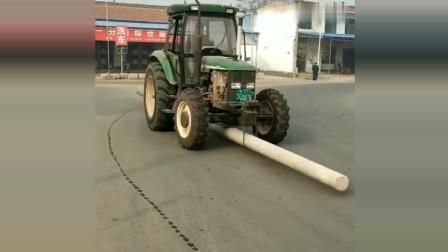 农用拖拉机还能这样用,真是头一次见,长见识了!