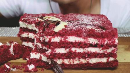红丝绒裸蛋糕, 这样甜品吃货都抵抗不了, 看着就想吃
