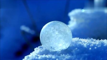 肥皂泡结冰全过程,好漂亮,这也太梦幻了吧!!!