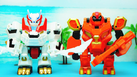 玩具大联萌 超变武兽变形玩具 超变猛奇和超变泰戈