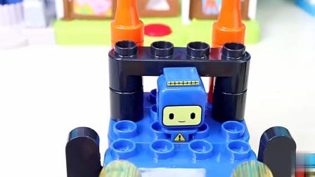 百变布鲁可积木玩具鲁鲁的百变推土机