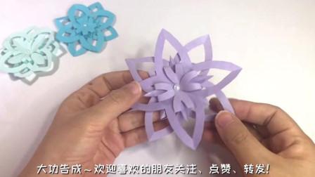 手工折纸:超简单的圣诞雪花