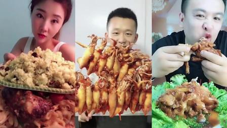 小鱼美食坊:大胃王吃大块肉,看他的吃相就感觉饿了