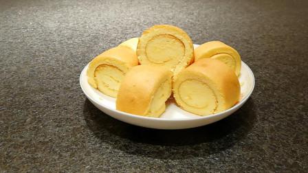 手把手教你蛋糕卷的做法,口感细腻味道棒,4分钟学会零失败!