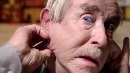 80岁老大爷为了和漂亮姑娘约会,用这种方式处理松弛皮肤,看着都痛!