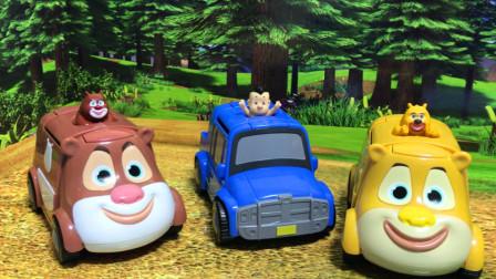 熊熊乐园 试玩熊熊爱兜风的玩具小汽车