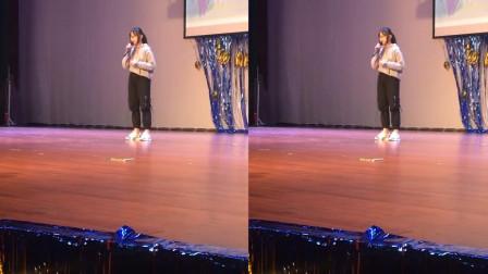 女同学校园晚会上翻唱邓紫棋的《倒数》走红,一开口还以为时原唱来了呢!