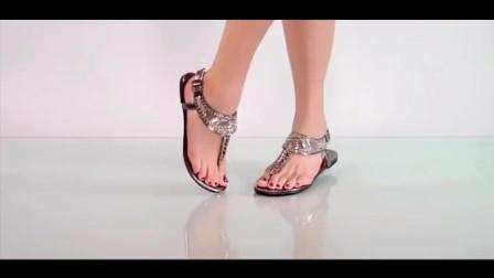 脚模试穿高跟鞋,潮流穿搭!
