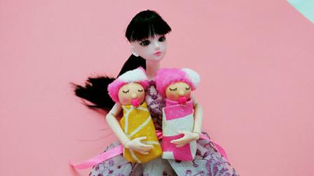 手工DIY叶罗丽的小宝宝,简单好做易上手,娃娃终于有自己孩子啦