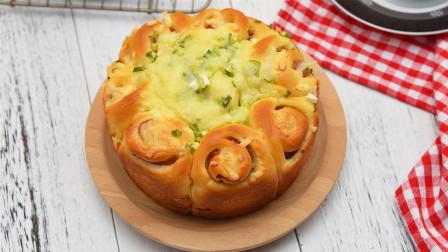 香葱加培根组合,零失误的面包速成法
