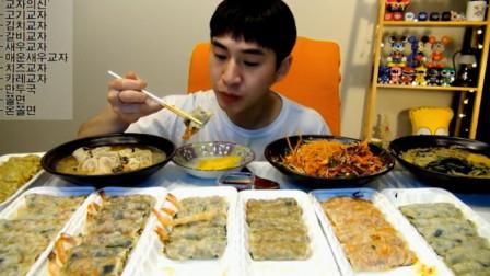 大胃王奔驰哥吃7份饺子,还有两碗面和饺子汤