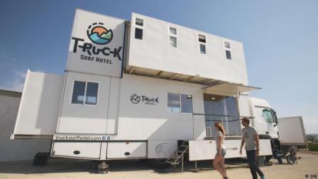 """夫妻用卡车改装双层""""海滨酒店""""!5间海景房,一周1.2万人民币!"""