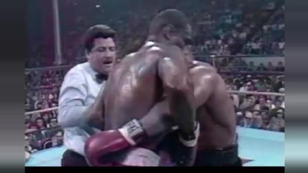 泰森职业拳击第18场比赛铁拳把对手轰成筛子