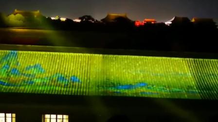 小编要闻 惊艳!故宫用55000组灯光投映《清明上河图》与《千里江山图》