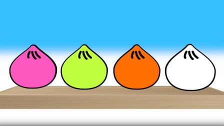 多彩饱满小笼包 学习各种颜色 健康 快乐 益智 早教 感恩 爱心 祝福 幸福 小猪佩奇