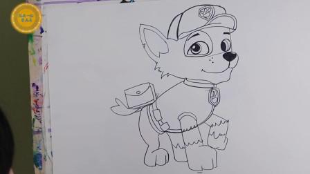 汪汪队动漫毛毛简笔画,简单动物漫绘画,一起来看看吧
