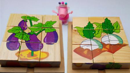 益智六面画蔬菜王国萝卜和茄子