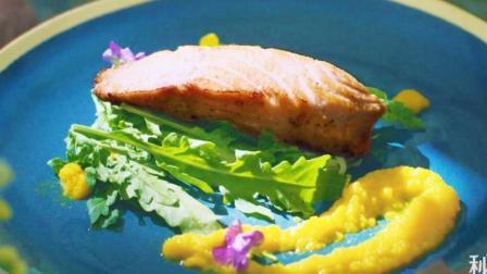 法国大厨教做西餐香煎三文鱼, 橙香肉嫩!