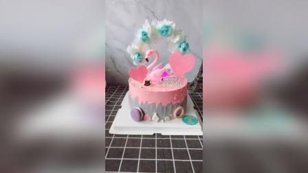 火烈鸟生日蛋糕