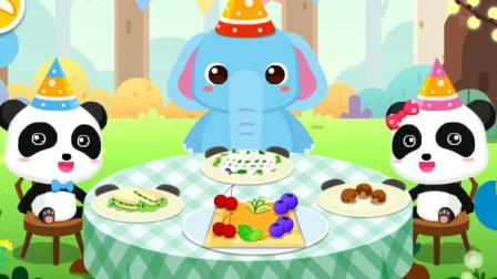 宝宝巴士:孩子们的美食手工DIY,和动物们一起来制作美味的香蕉飞饼吧!
