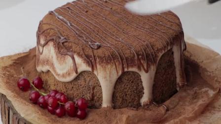 蛋糕师制作的网红脏脏蛋糕, 切开后太惊喜了, 看着就好有食欲