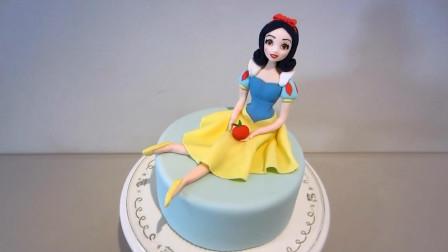 这么漂亮的白雪公主,你能猜到是可以吃的翻糖蛋糕吗?