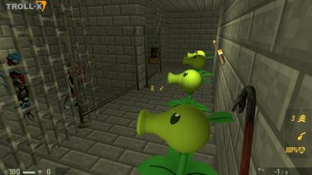 我的世界 植物大战僵尸把奥特曼锁在地牢