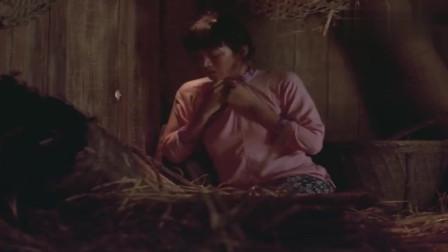 菊豆:菊豆用稻草堵住透光洞,迟迟没有出来干活被杨金山怒骂