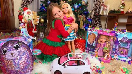 为什么萌宝小萝莉没有收到圣诞老人送来的礼物呢?趣味玩具故事