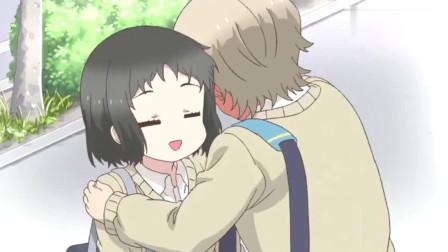 敦君与女朋友:来自的美女爱抱抱,小伙害羞起来真的真的太可爱了!