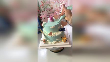 双层蛋糕教程。装饰品需要某宝自淘