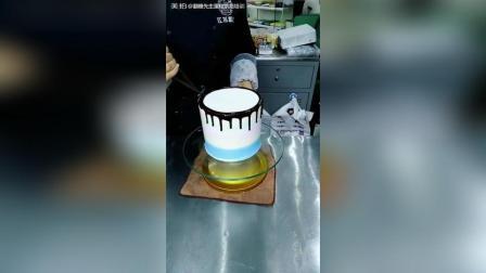 网红滴落蛋糕制作流程, 艾素糖及马卡龙装饰