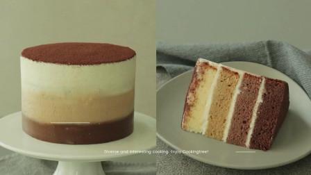 提拉米苏渐层蛋糕教程 今天我就是想吃点甜蜜蜜的东西