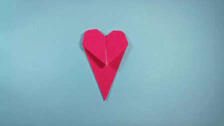 手工折纸,爱心书签的折法,步骤简单,好看又实用