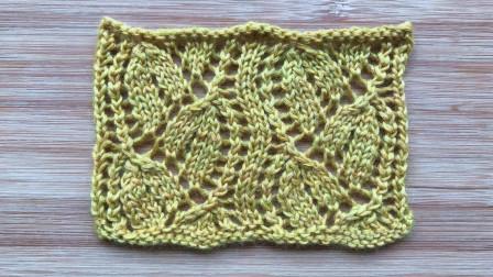 镂空双叶子花的编织方法,织开衫围巾都很美编织实例