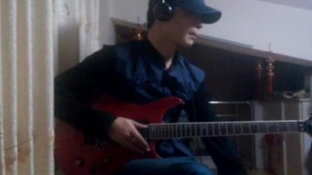 电吉他翻弹《把夜晚染黑》
