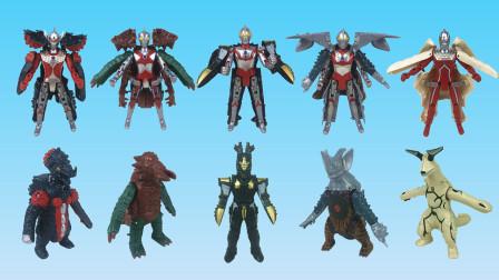 咸蛋超人变形怪兽玩具 你最喜欢哪位超人?